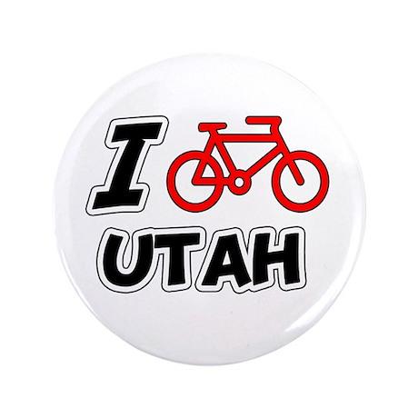 "I Love Cycling Utah 3.5"" Button"
