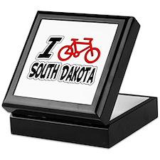 I Love Cycling South Dakota Keepsake Box