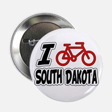 "I Love Cycling South Dakota 2.25"" Button"