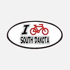 I Love Cycling South Dakota Patches