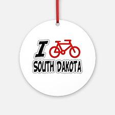 I Love Cycling South Dakota Ornament (Round)