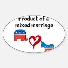 mixed politics Decal