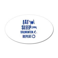 Eat Sleep Badminton Wall Decal