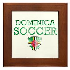 Dominica Soccer Framed Tile