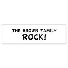The Brown Family Rock Bumper Bumper Sticker