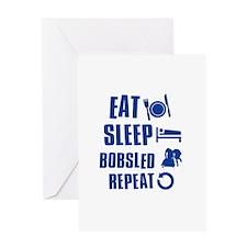 Eat Sleep Bobsled Greeting Card