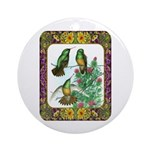 Buff Bellied Hummingbirds Ornament (Round)