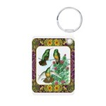 Buff Bellied Hummingbirds Aluminum Photo Keychain