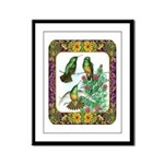 Buff Bellied Hummingbirds Framed Panel Print