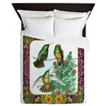 Buff Bellied Hummingbirds Queen Duvet