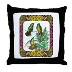 Buff Bellied Hummingbirds Throw Pillow