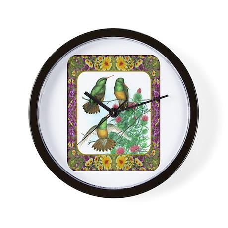 Buff Bellied Hummingbirds Wall Clock