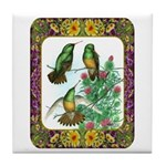 Buff Bellied Hummingbirds Tile Coaster