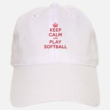 Keep Calm Play Softball Baseball Baseball Cap