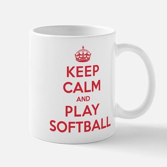 Keep Calm Play Softball Mug