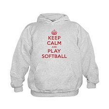 Keep Calm Play Softball Hoodie