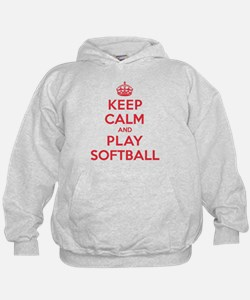 Keep Calm Play Softball Hoodie