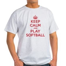 Keep Calm Play Softball T-Shirt