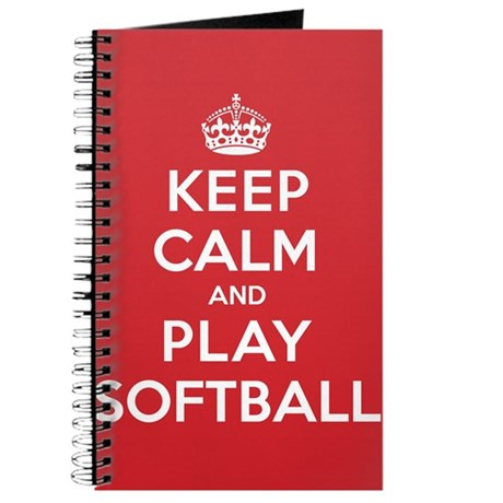 Keep Calm Play Softball Journal