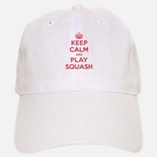 Keep Calm Play Squash Baseball Baseball Cap