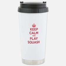 Keep Calm Play Squash Thermos Mug