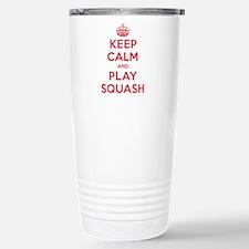 Keep Calm Play Squash Travel Mug