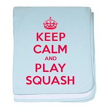 Keep Calm Play Squash baby blanket