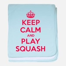 Keep Calm Play Squash baby blanket