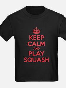 Keep Calm Play Squash T