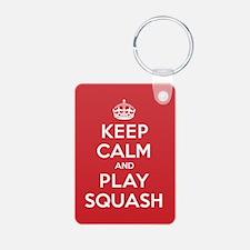 Keep Calm Play Squash Keychains
