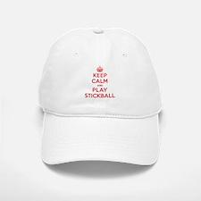 Keep Calm Play Stickball Baseball Baseball Cap