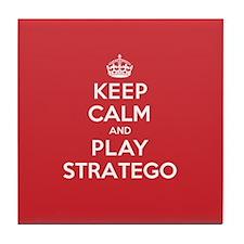 Keep Calm Play Stratego Tile Coaster