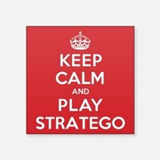 "Keep Calm Play Stratego Square Sticker 3"" x 3"""