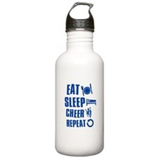 Eat Sleep Cheer Water Bottle