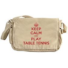 Keep Calm Play Table Tennis Messenger Bag