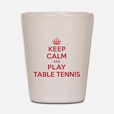 Keep Calm Play Table Tennis Shot Glass