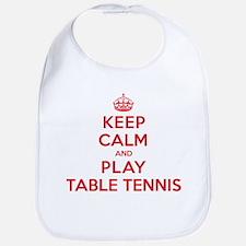 Keep Calm Play Table Tennis Bib