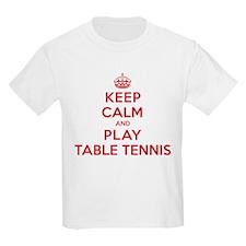 Keep Calm Play Table Tennis T-Shirt