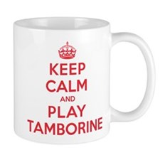 Keep Calm Play Tamborine Mug