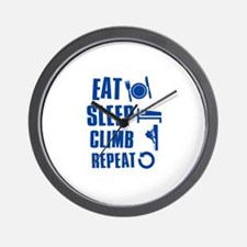 Eat Sleep Climb Wall Clock