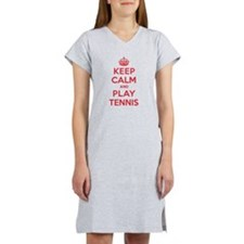 Keep Calm Play Tennis Women's Nightshirt