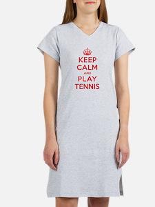 Keep Calm Play Tennis Women's Nightshirt