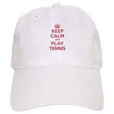 Keep Calm Play Tennis Baseball Cap