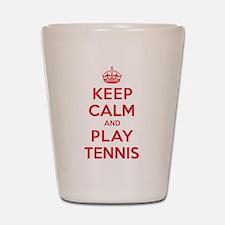 Keep Calm Play Tennis Shot Glass