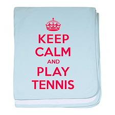 Keep Calm Play Tennis baby blanket