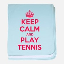 Keep Calm Play Tennis baby blanket