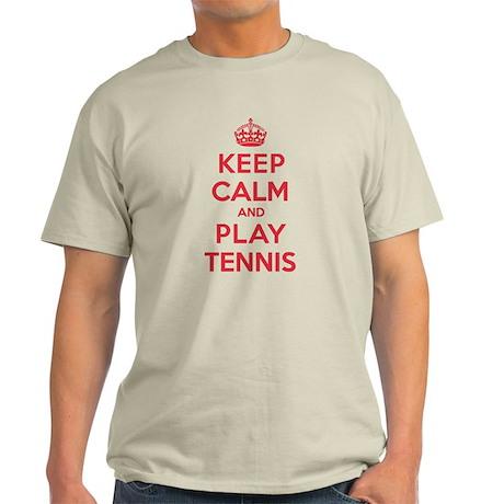 Keep Calm Play Tennis Light T-Shirt