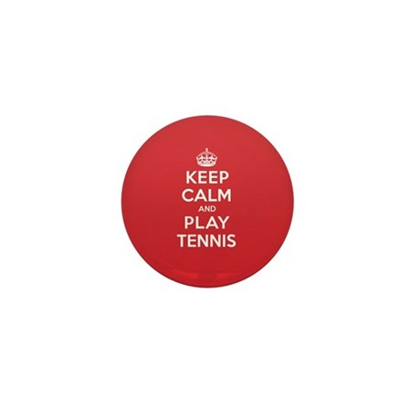 Keep Calm Play Tennis Mini Button (10 pack)