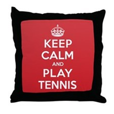 Keep Calm Play Tennis Throw Pillow