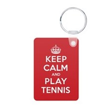 Keep Calm Play Tennis Keychains